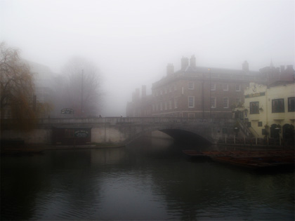 River Cam in the mist
